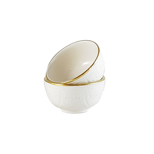 CHÂBI CHIC | 2 ENGRAVED MINI BOWLS - MARSALA GOLD
