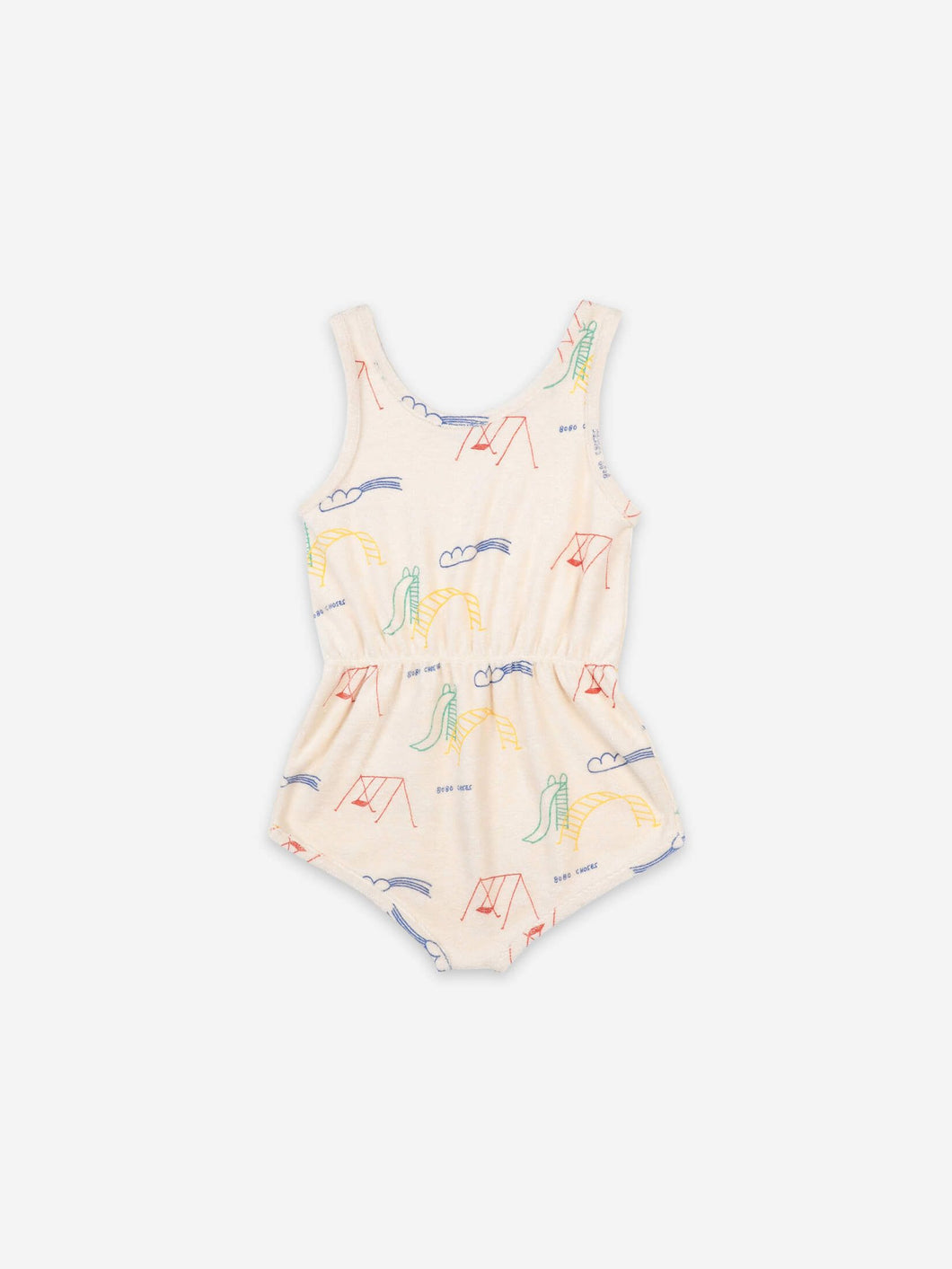 BOBO CHOSES | PLAYGROUND ALL OVER TERRY FLEECE PLAYSUIT