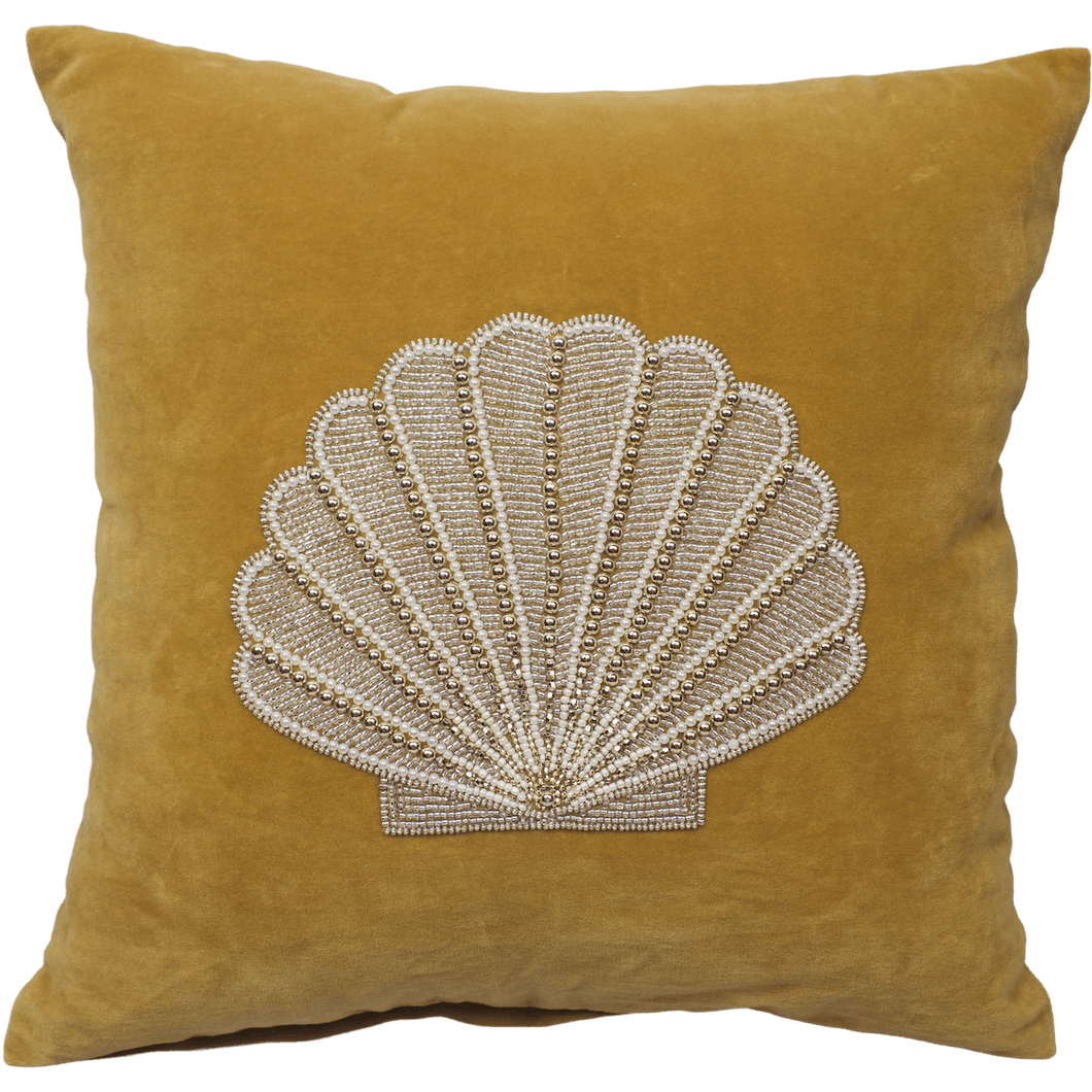 À LA VELVET CUSHION COVER - GOLD SHELL