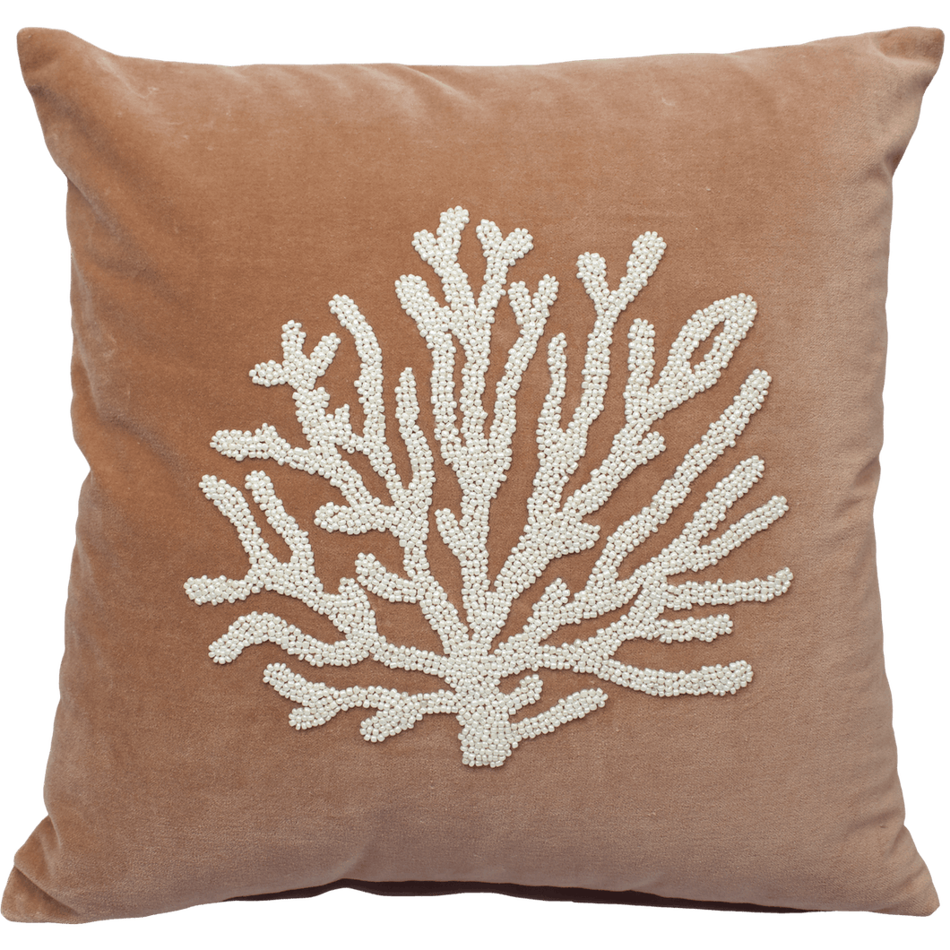 À LA VELVET CUSHION COVER - CORAL