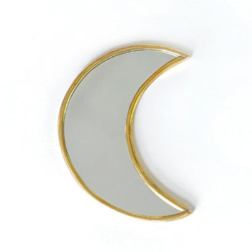BRASS MOON MIRROR