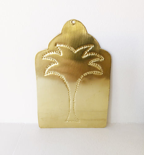 BRASS PALMTREE PLAQUE