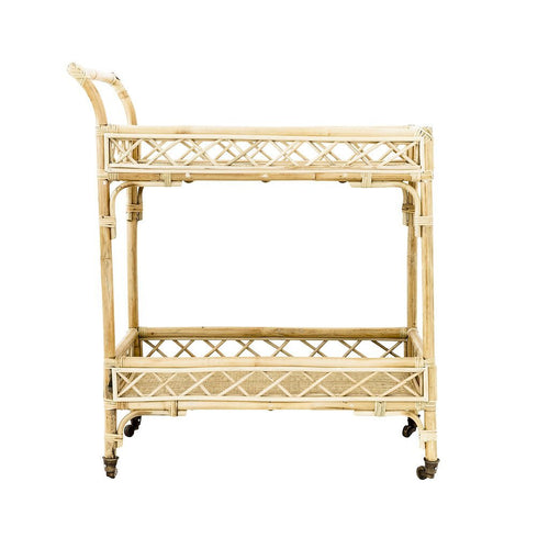 CRISS CROSS BAR CART | NATURAL