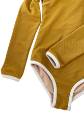 THE GIRLS RIBBED L/S SURFSUIT | OCHRE