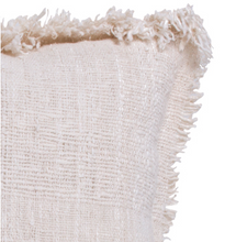 LUXE FRINGE CUSHION NATURAL