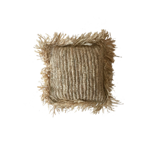 RAFFIA CUSHION COVER - SQUARE 40CM
