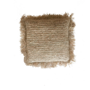 RAFFIA CUSHION COVER - SQUARE 50CM