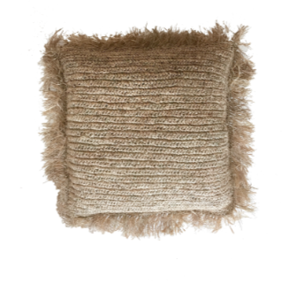 RAFFIA CUSHION COVER - SQUARE 60CM