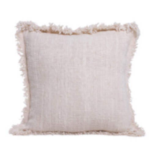 LUXE FRINGE CUSHION COVER | NATURAL