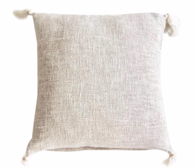 TASSEL CUSHION COVER - NATURAL