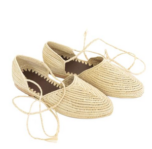 RAFFIA SLIDE - NATURAL