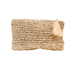 RAFFIA CLUTCH NATURAL