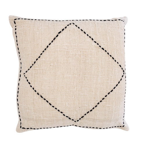 LUXE DIAMOND CUSHION COVER | NATURAL