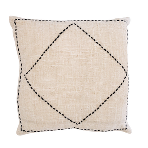 LUXE DIAMOND CUSHION COVER - NATURAL