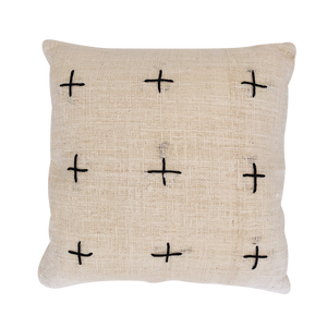 CROSS CUSHION COVER | NATURAL