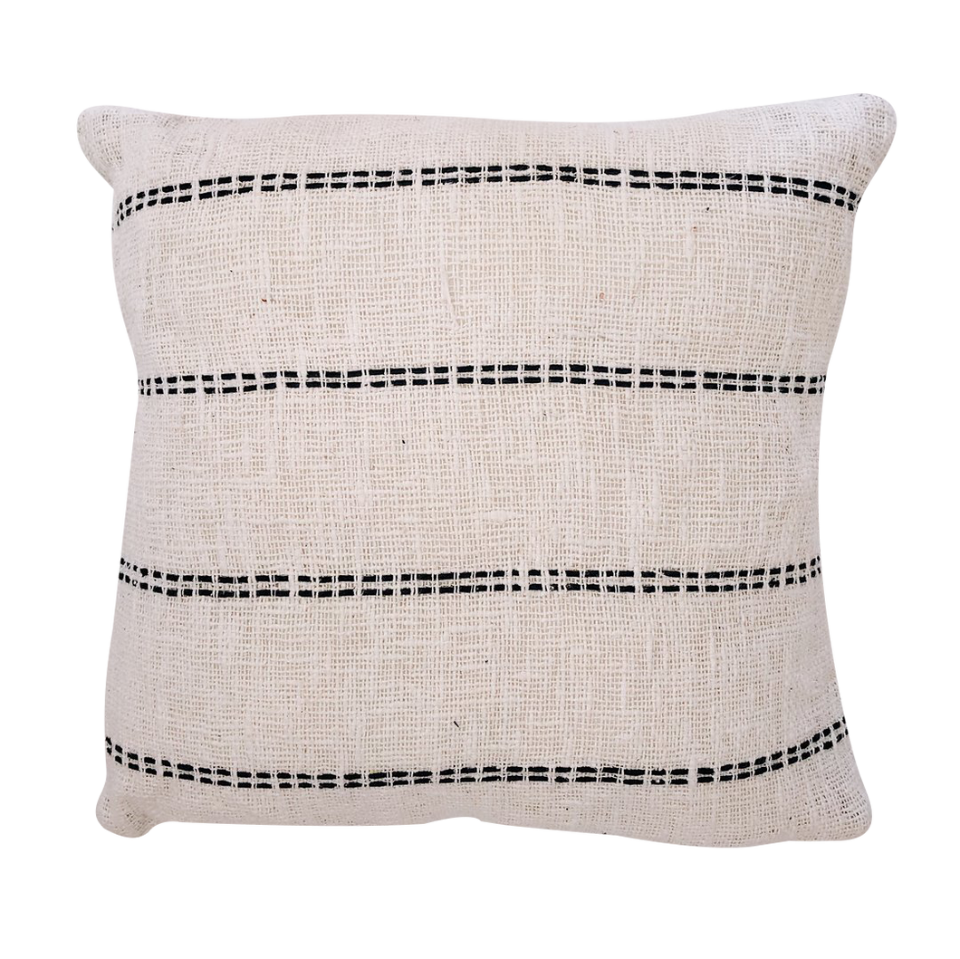 LINEAR CUSHION COVER - NATURAL