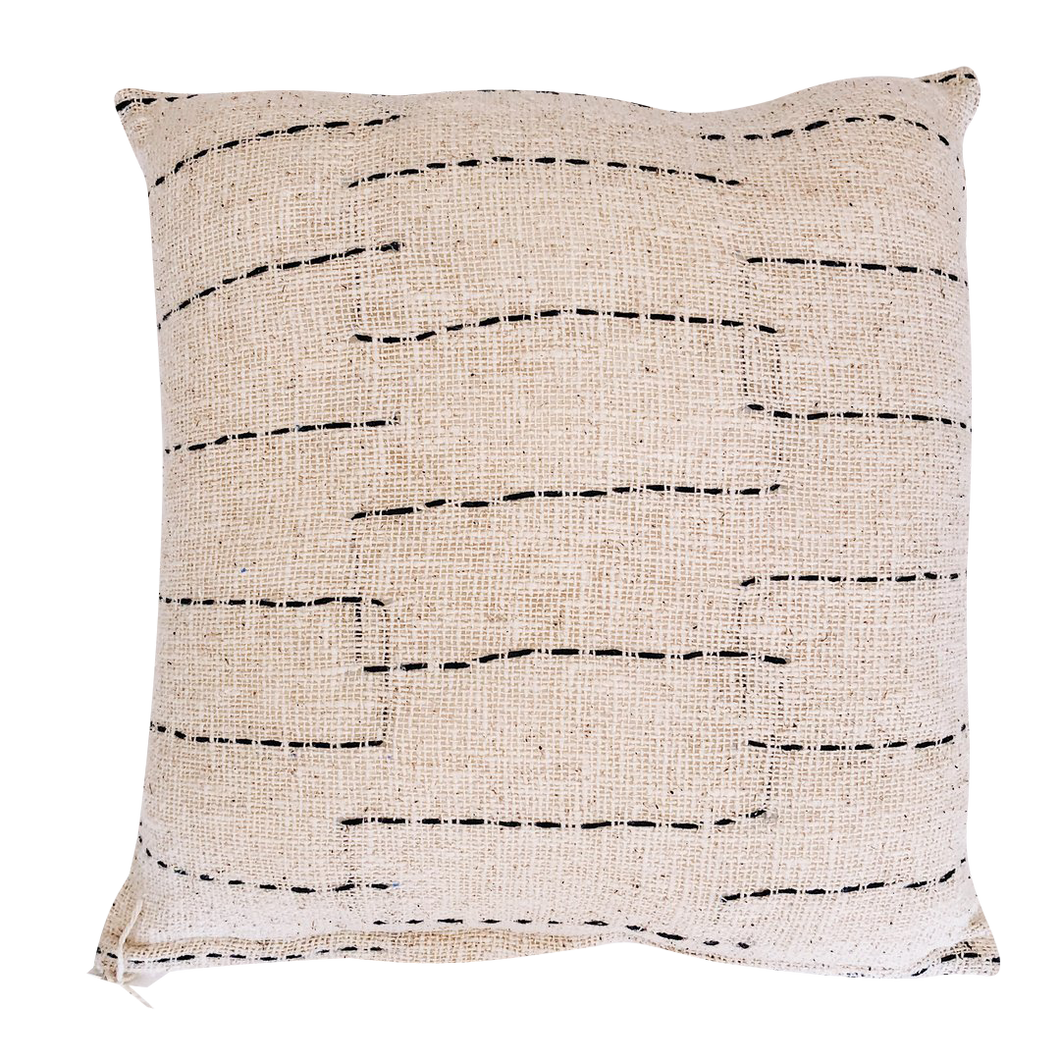 LINE CUSHION COVER - NATURAL