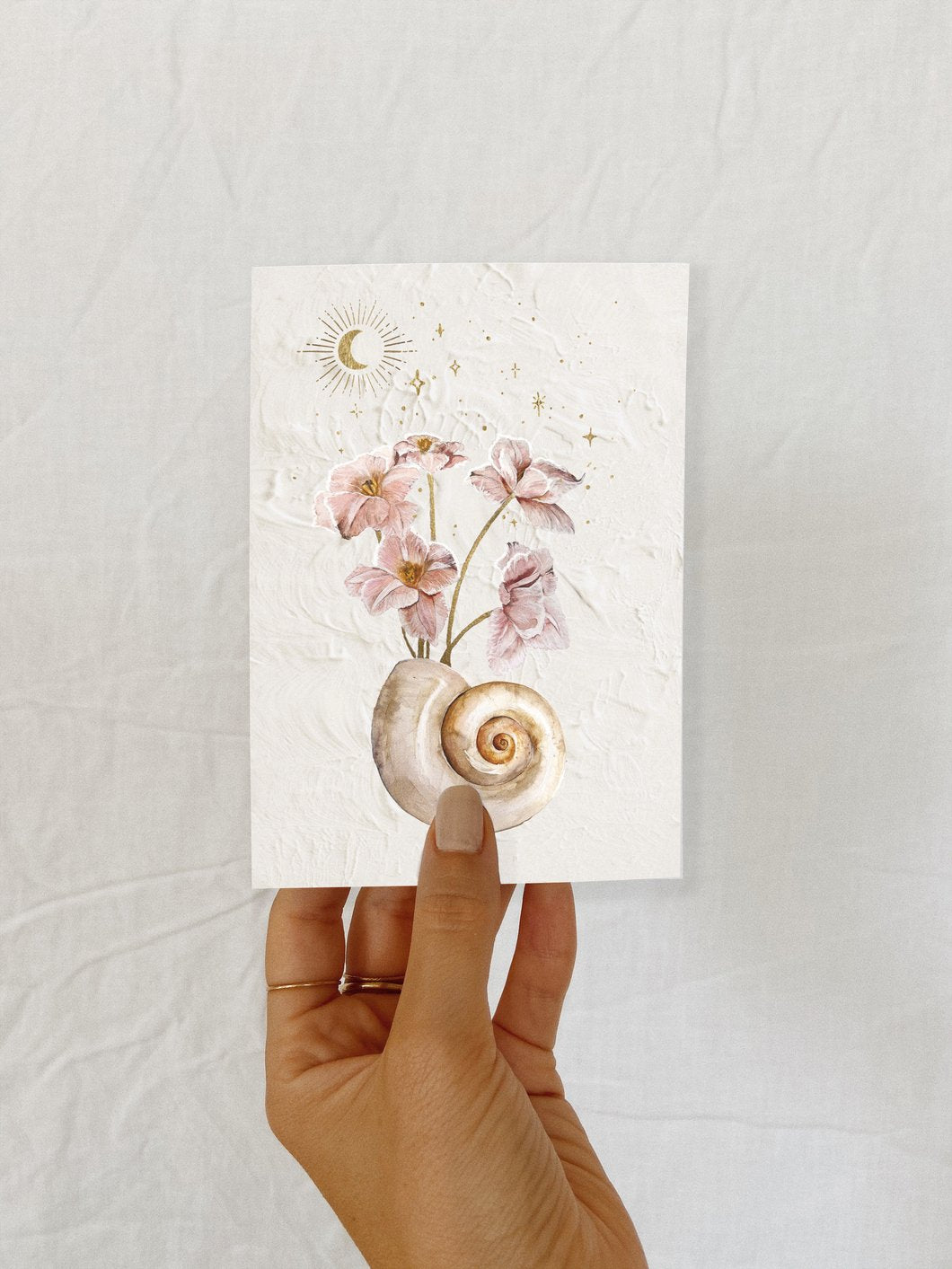 BRIGITTE MAY SEASHELLS & STARS 02 CARD