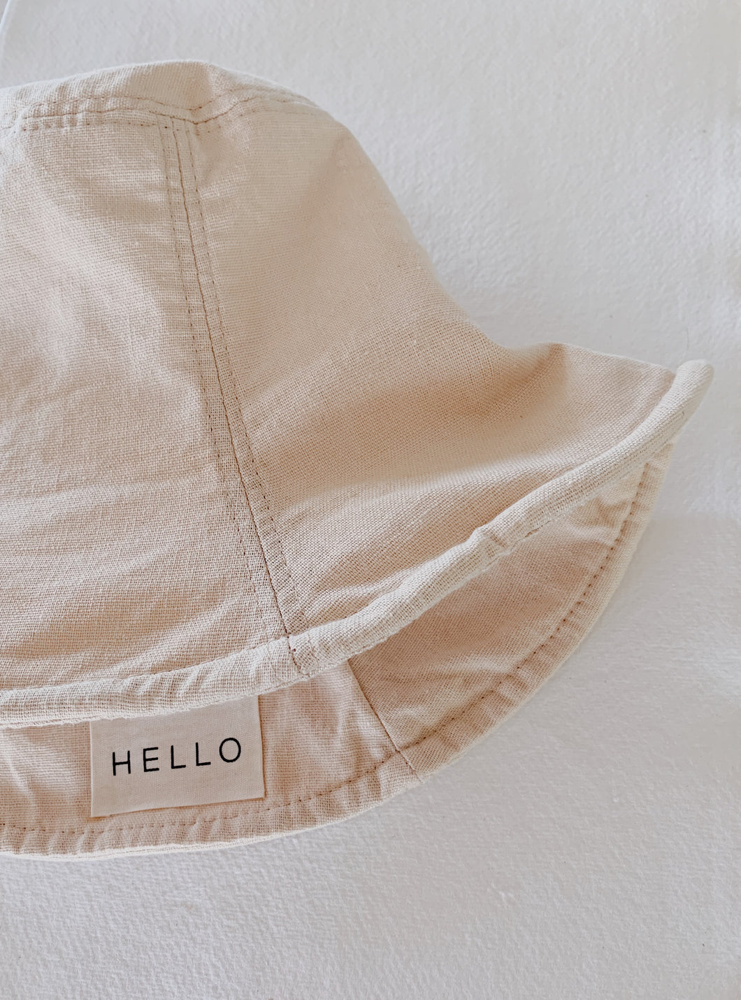 HELLO BUCKET HAT | NATURAL