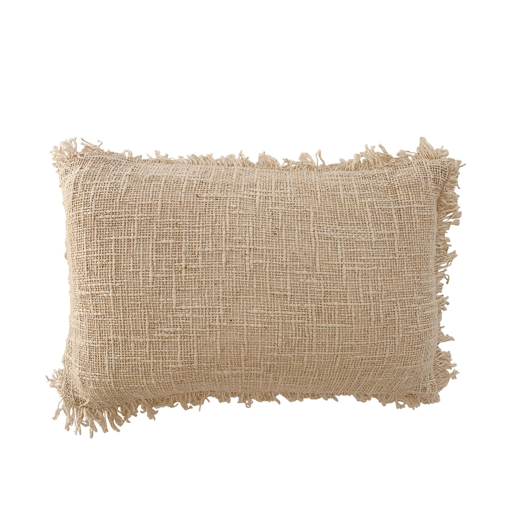 LUXE FRINGE LUMBAR CUSHION COVER | NATURAL