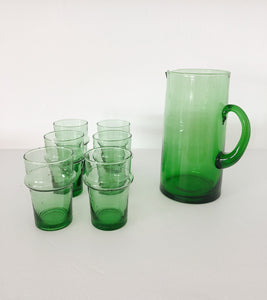 BELDI GLASS JUG | GREEN