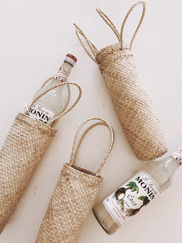 WOVEN BOTTLE BAG