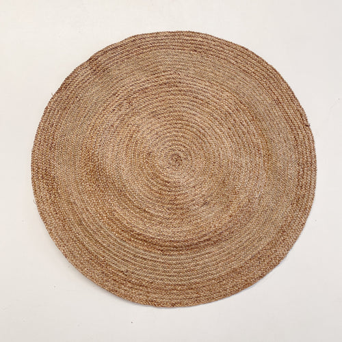 NATURAL BRAIDED ROUND RUG