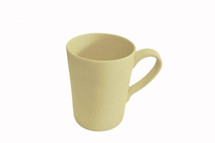 BAMBOO FIBRE CUP WITH HANDLE - NATURAL