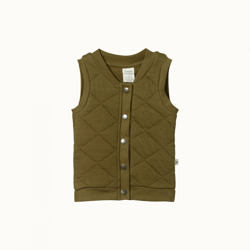 NATURE BABY | QUILTED VEST - FIR GREEN