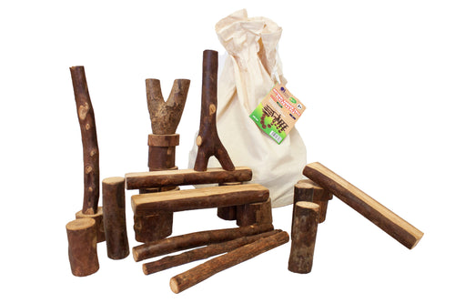 NATURAL TREE BLOCKS | 42PCS