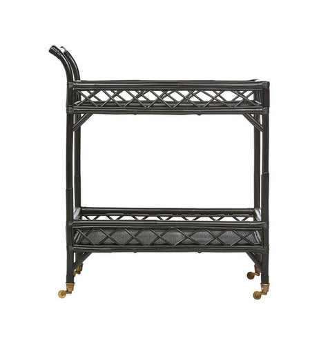 CRISS CROSS BAR CART | BLACK