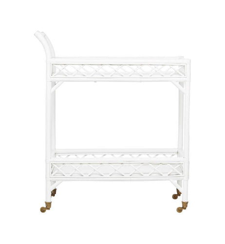 CRISS CROSS BAR CART | WHITE