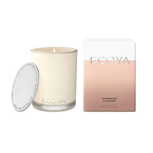 Ecoya Madison Candle - Cedarwood & Leather