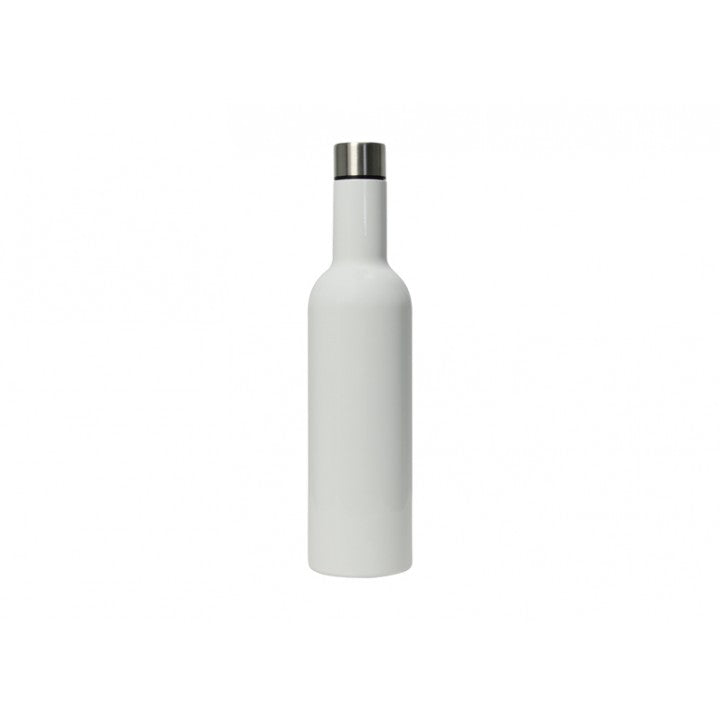 Annabel Trends Double Walled Wine Bottle - Glossy White