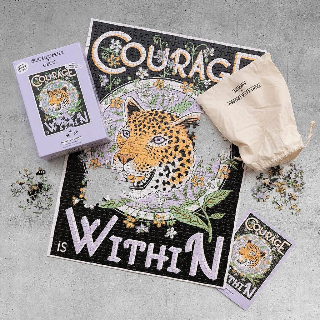 IS Gifts - Luckies Print Club - Courage is Within Puzzle