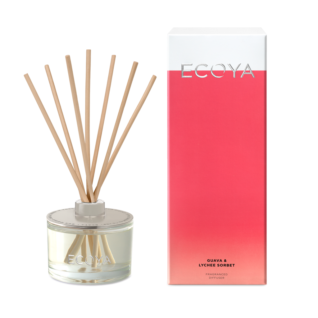 Ecoya Reed Diffuser Large - Guava & Lychee Sorbet