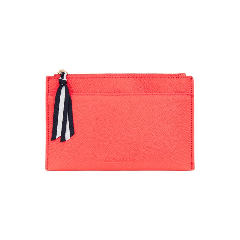 Elms + King - New York Coin Purse - Camellia Red
