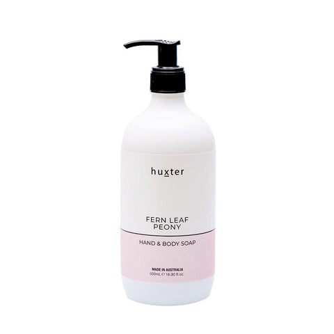 Huxter Hand & Body Soap 500ml - Fern Leaf Peony
