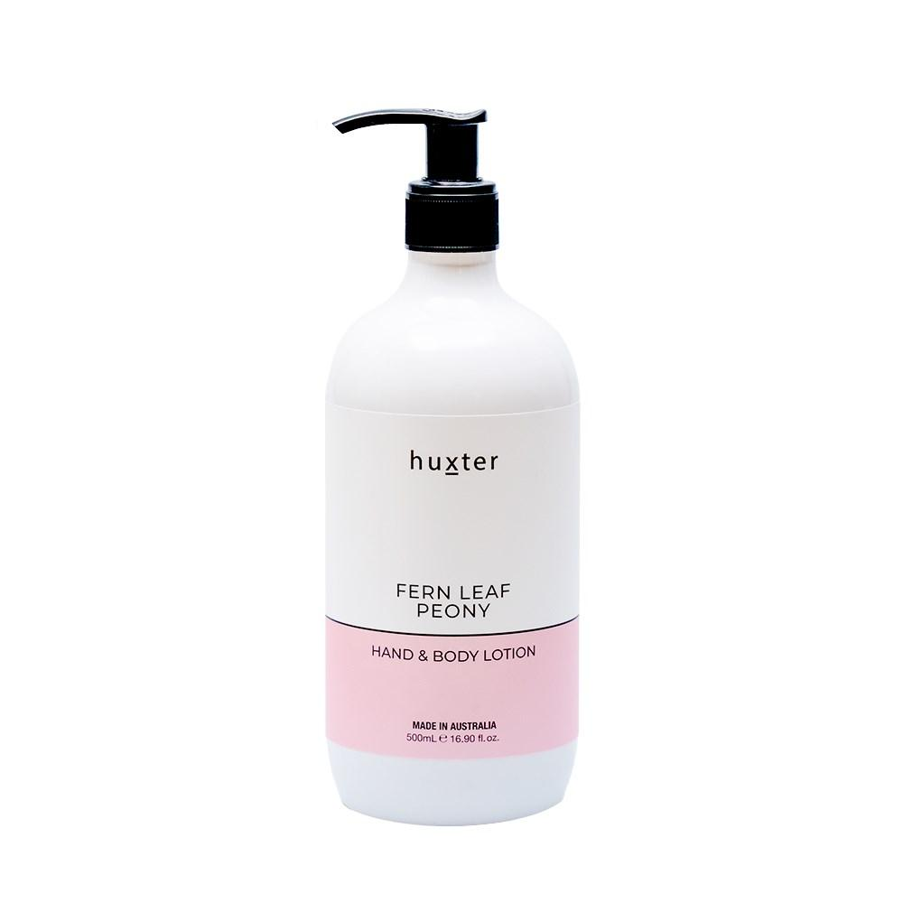 Huxter Hand & Body Lotion 500ml - Fern Leaf Peony