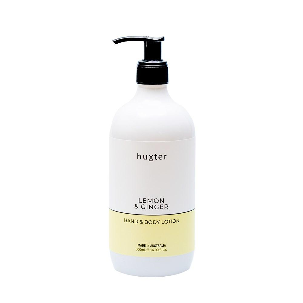 Huxter Hand & Body Lotion 500ml - Lemon & Ginger