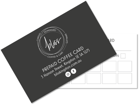 Bliss Prepaid Coffee Card
