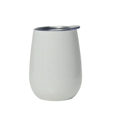 Annabel Trends Double Walled Wine Tumbler - Gloss White