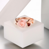 Rose Quartz Sterling Silver Ring - Spiritual Bliss Shop