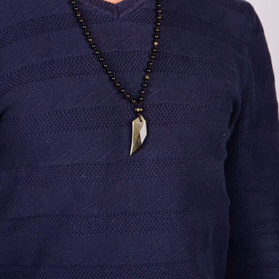 Gold Sheen Obsidian Necklace - Wolf Tooth Shape - Spiritual Bliss Shop