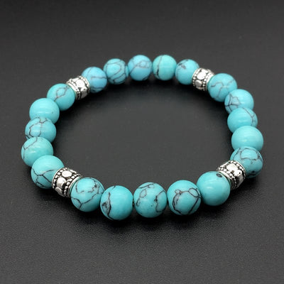 Turquoise Bracelets with Tree of Life Charm - Spiritual Bliss Shop