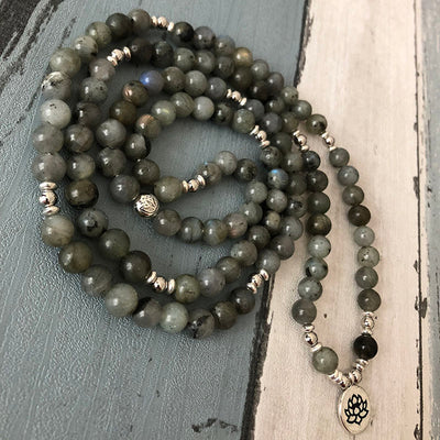 Natural Labradorite Mala Bracelet - Spiritual Bliss Shop