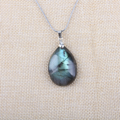 Necklace with Labradorite Pendant - Spiritual Bliss Shop