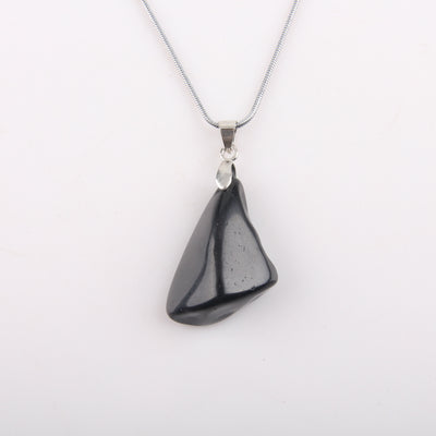 Irregular Shape Black Obsidian Necklace - Spiritual Bliss Shop