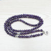 Natural Amethyst Mala Bracelet - Spiritual Bliss Shop