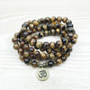 Natural Tiger's Eye Mala Bracelet - Spiritual Bliss Shop